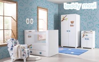 Bebek Odası Takımı Teddy Mavi