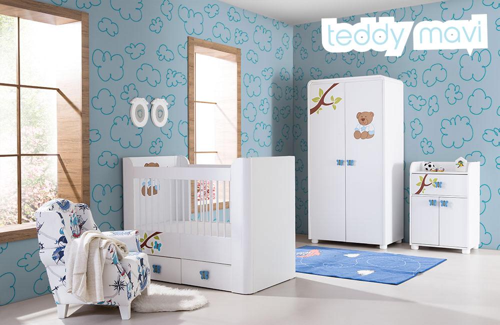 Bebek Odası Teddy Mavi