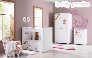 Bebek Odası Takımı Teddy Pembe