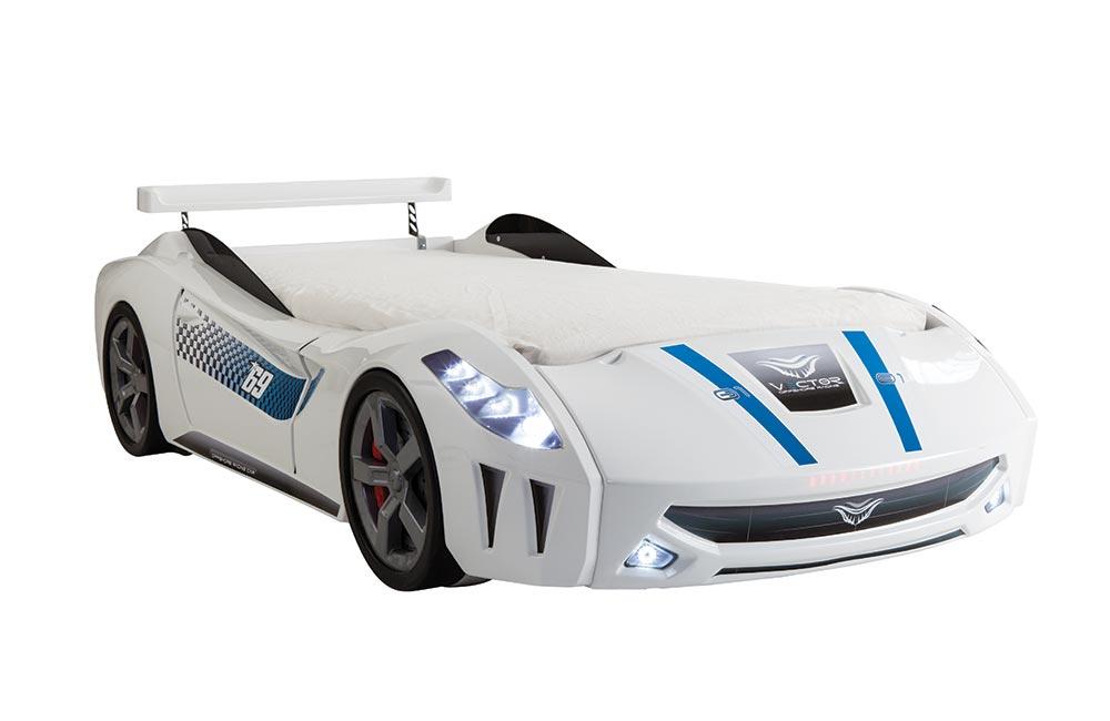 Beyaz Araba Karyola Vector