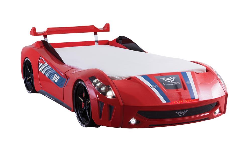 Kırmızı Araba Karyola Vector