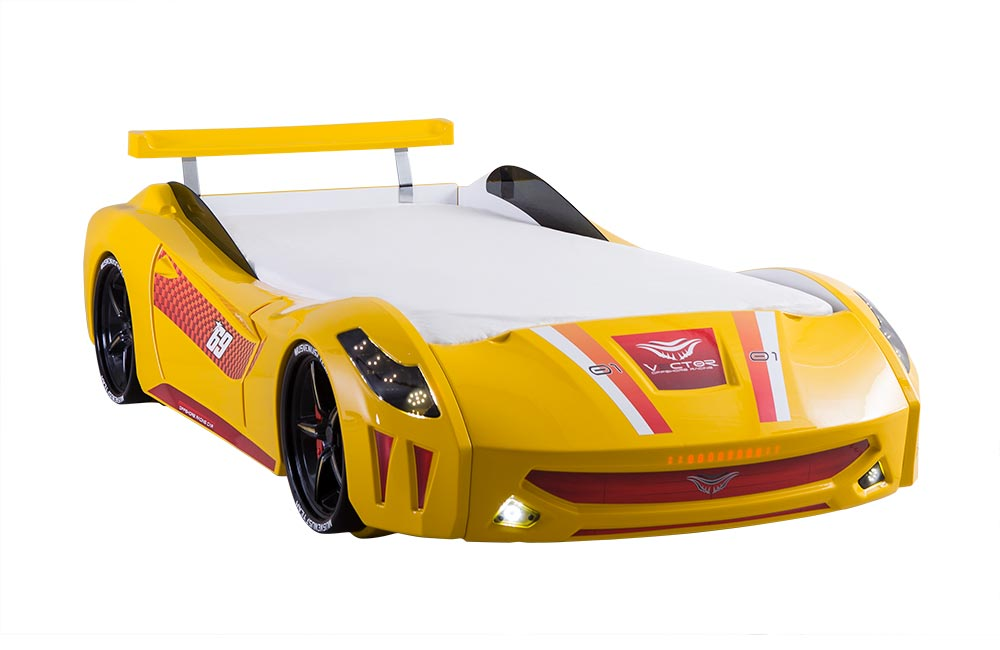 Sarı Araba Karyola Vector