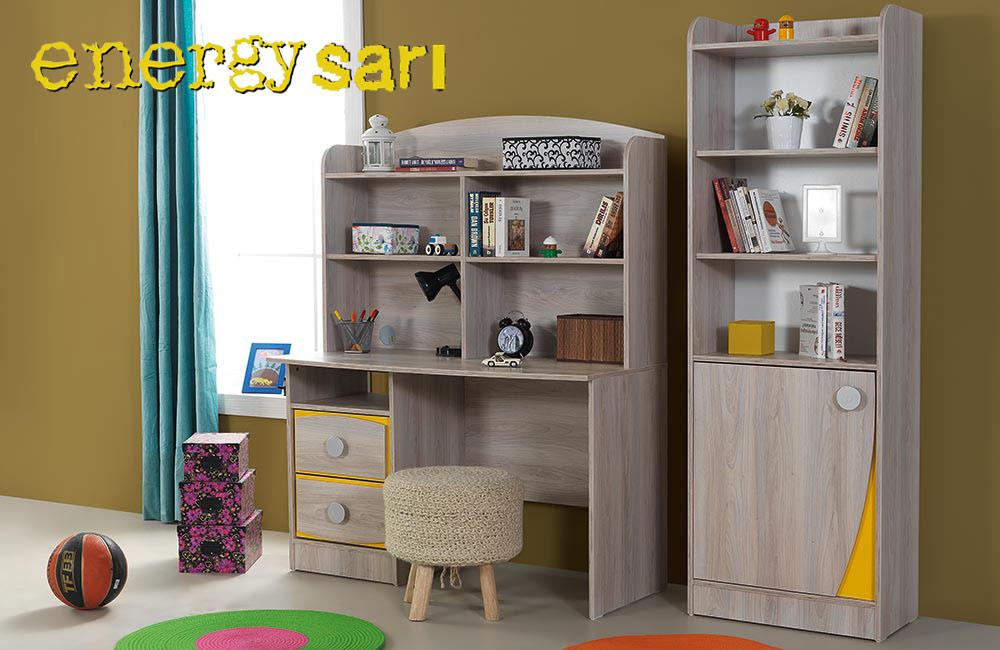 Çalışma Masası, Kitaplık Energy Sarı
